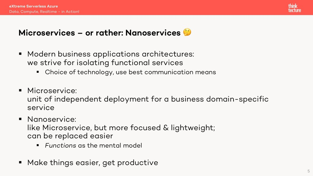 5 § Modern business applications architectures:...