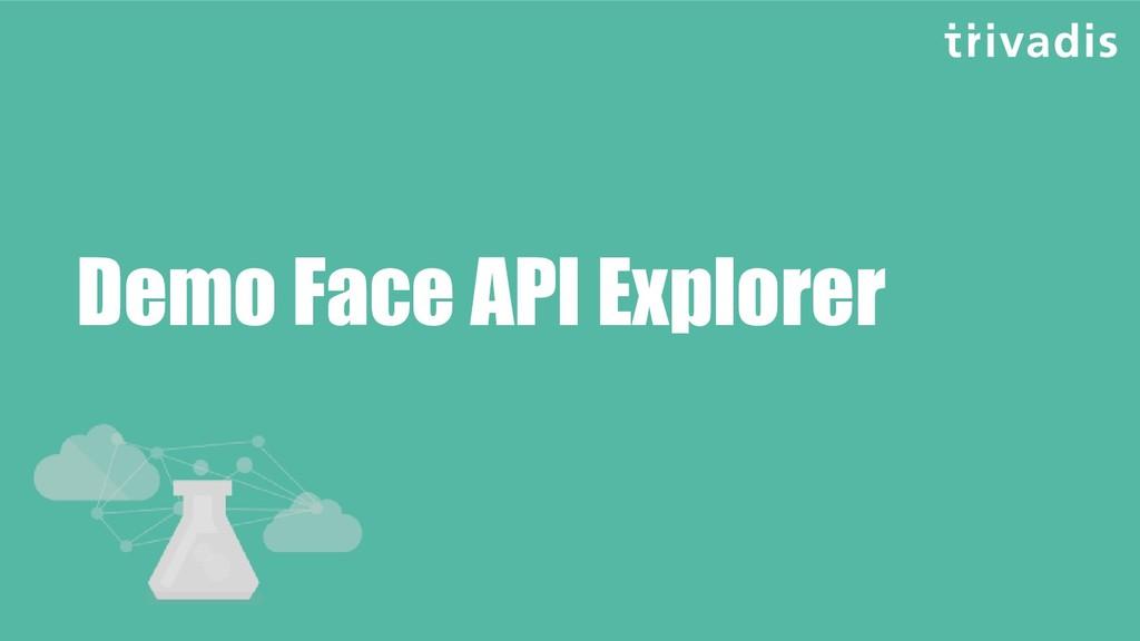 Demo Face API Explorer