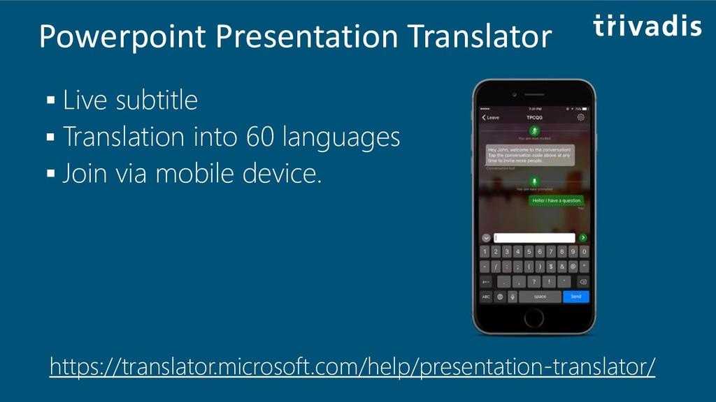 Powerpoint Presentation Translator ▪ Live subti...