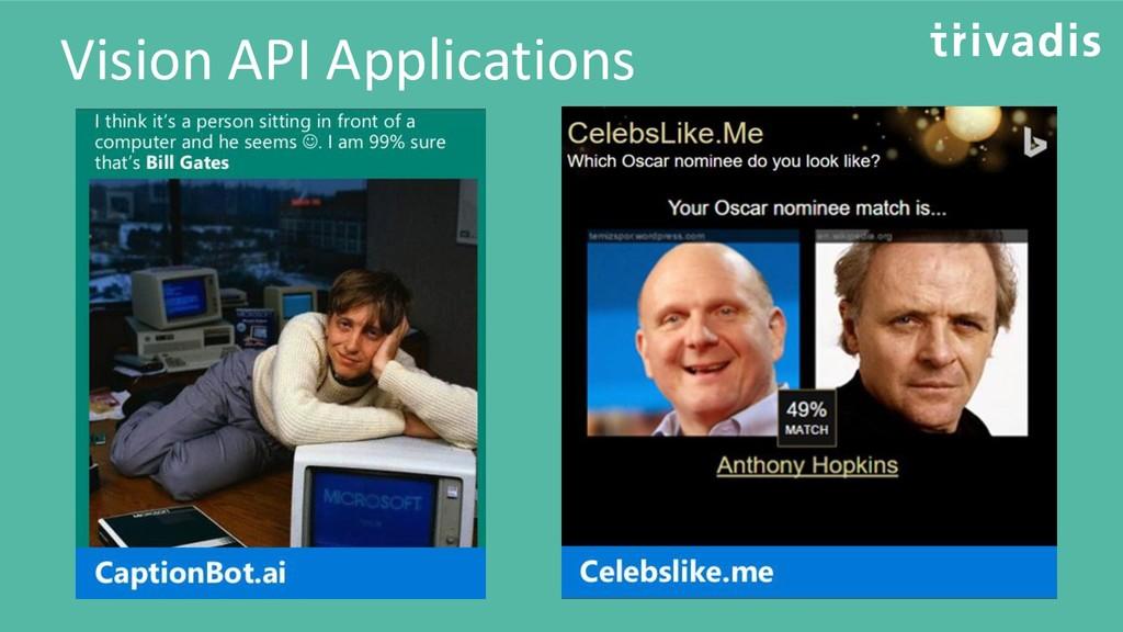 Vision API Applications