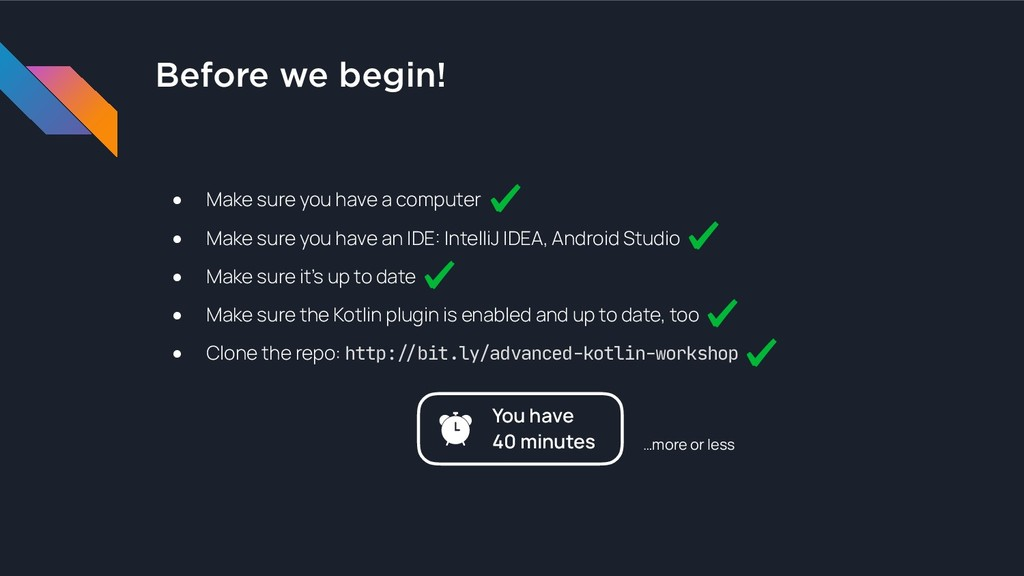 Before we begin! ● Make sure you have a compute...