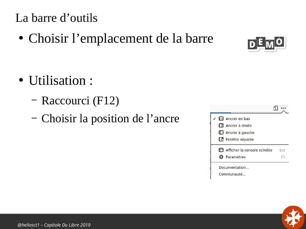 @hellosct1 – Capitole Du Libre 2019 La barre d'...