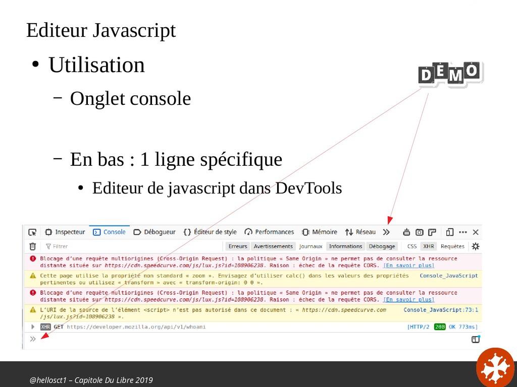 @hellosct1 – Capitole Du Libre 2019 Editeur Jav...