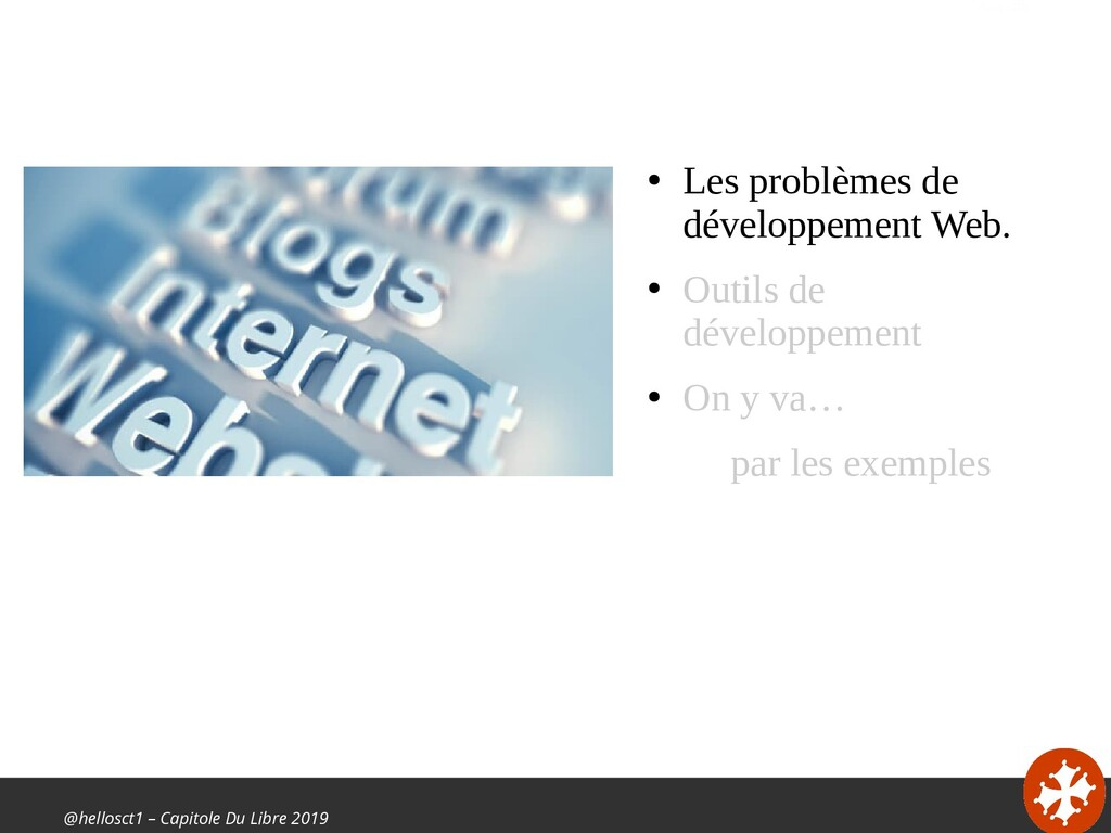 @hellosct1 – Capitole Du Libre 2019 ● Les probl...