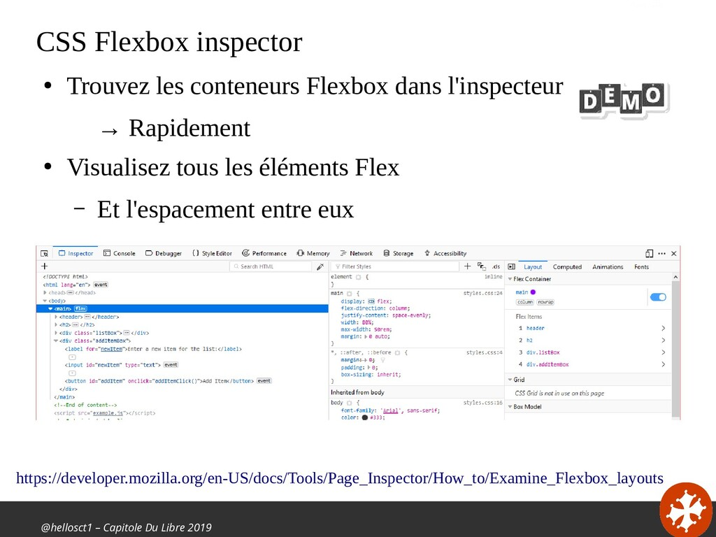 @hellosct1 – Capitole Du Libre 2019 CSS Flexbox...