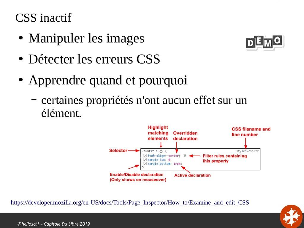 @hellosct1 – Capitole Du Libre 2019 CSS inactif...