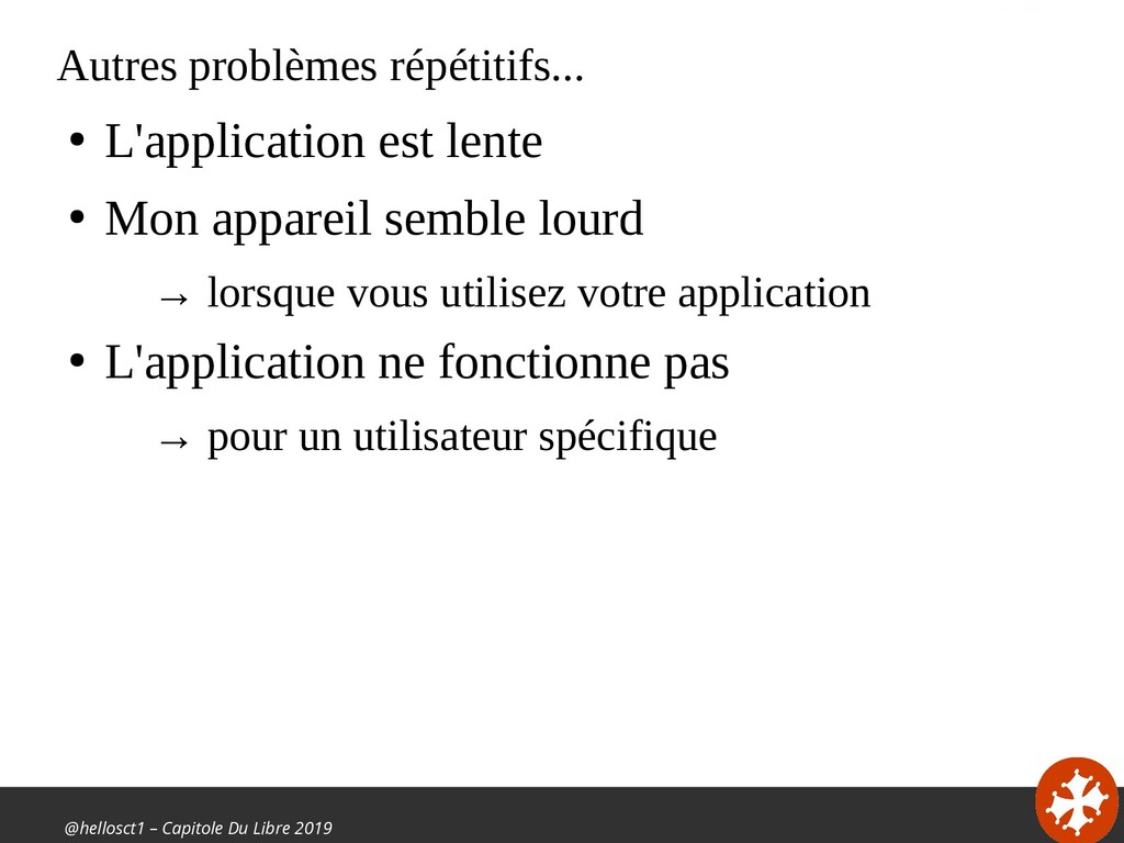 @hellosct1 – Capitole Du Libre 2019 Autres prob...