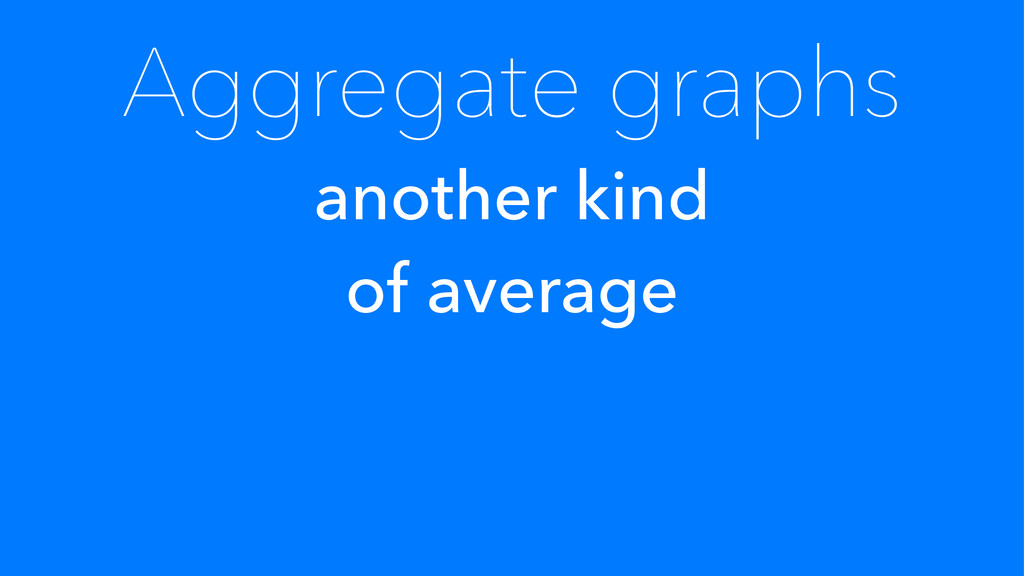 Aggregate graphs another kind of average