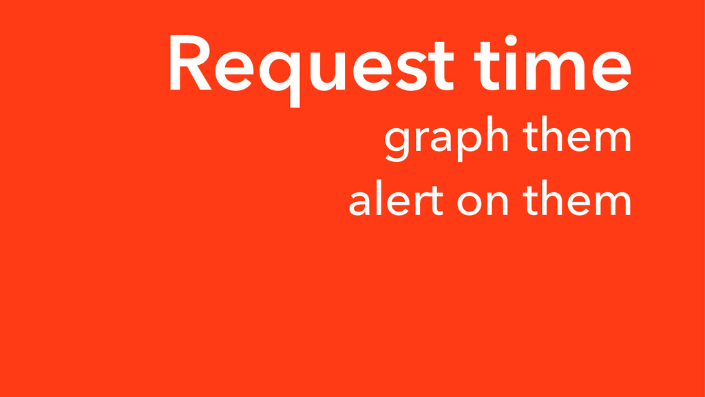 Request time graph them alert on them