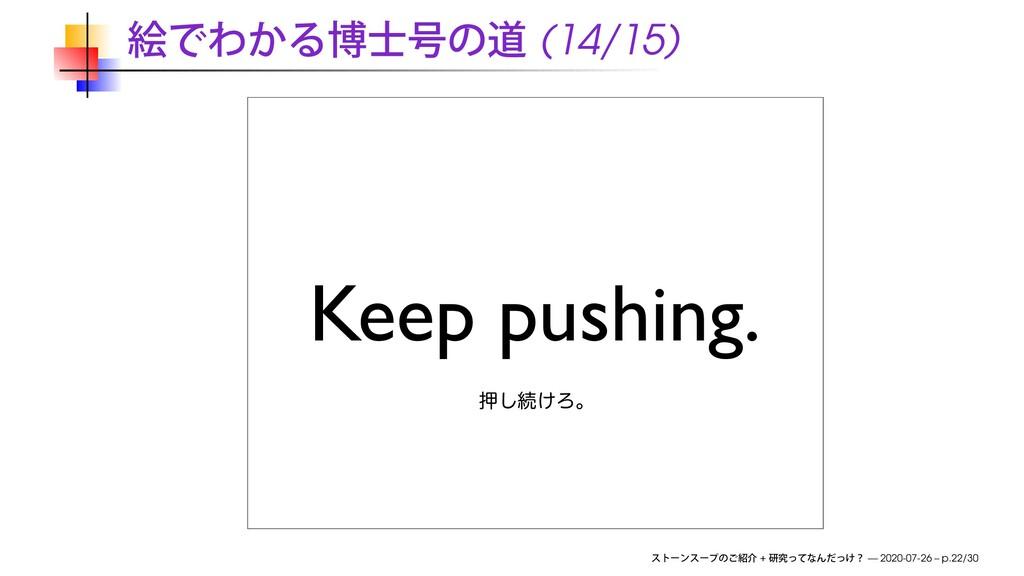 (14/15) Keep pushing. ԡ͠ଓ͚Ζɻ + — 2020-07-26 – p...