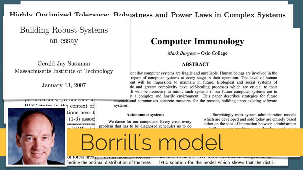 Borrill's model