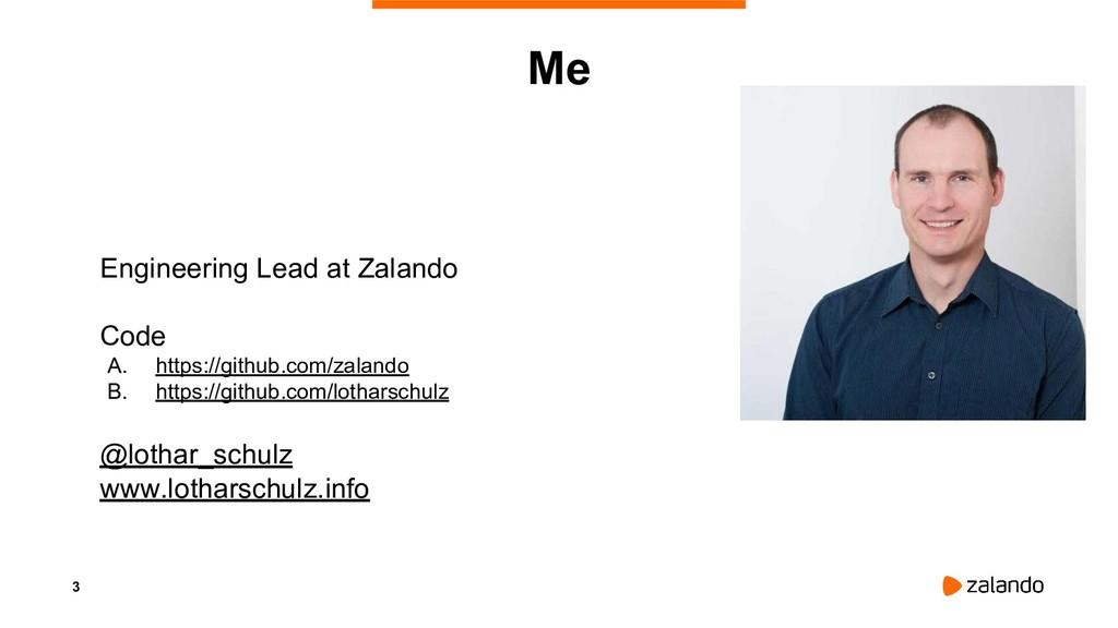 3 Me Engineering Lead at Zalando Code A. https:...