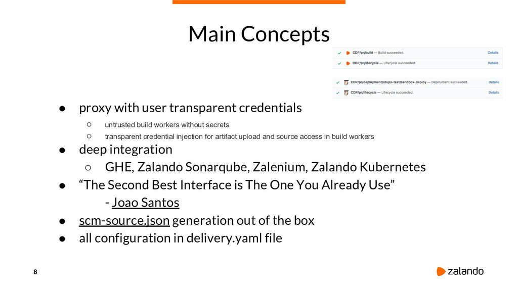8 Main Concepts ● proxy with user transparent c...