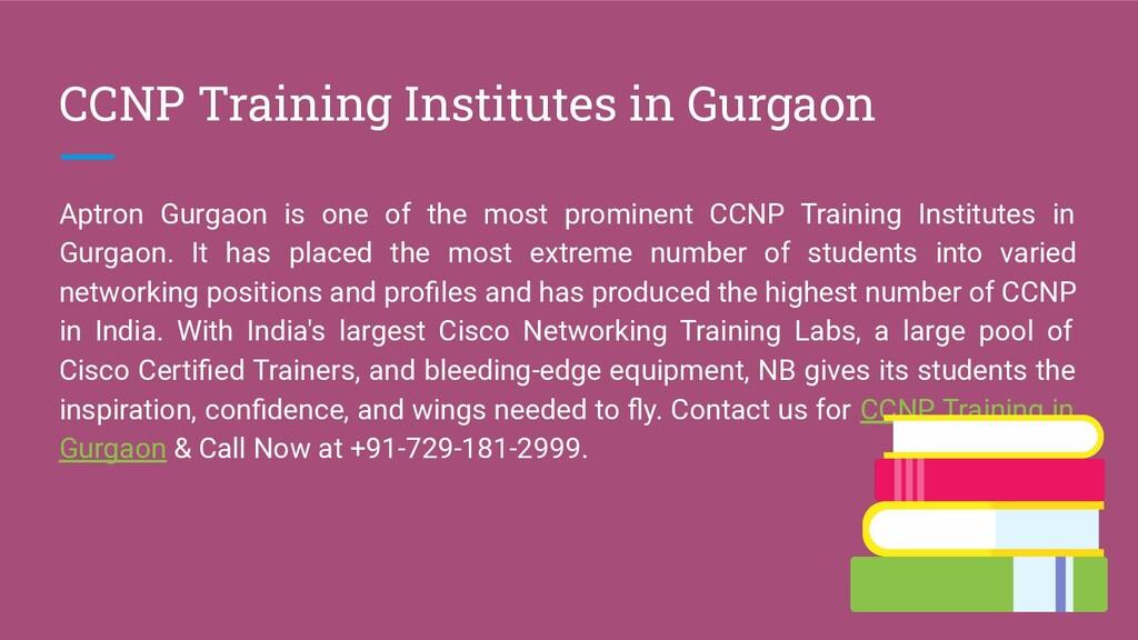 CCNP Training Institutes in Gurgaon Aptron Gurg...