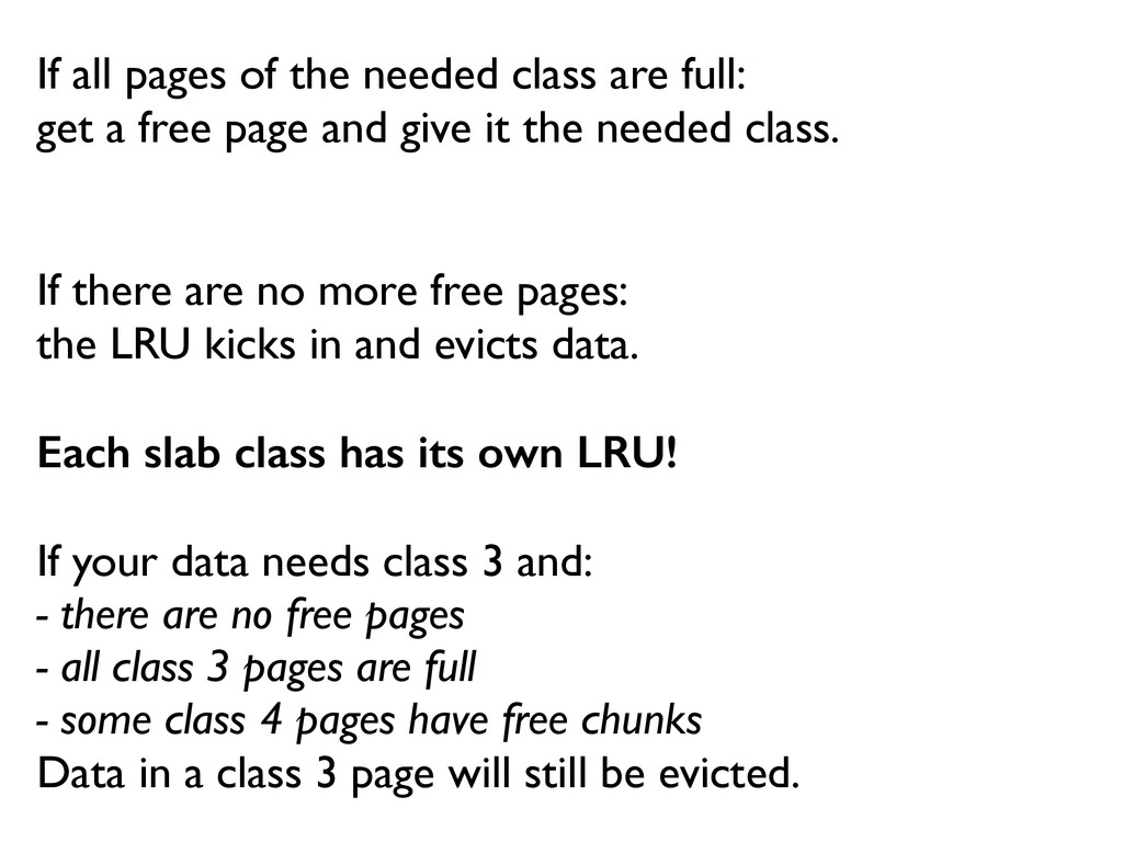 If all pages of the needed class are full:  g...