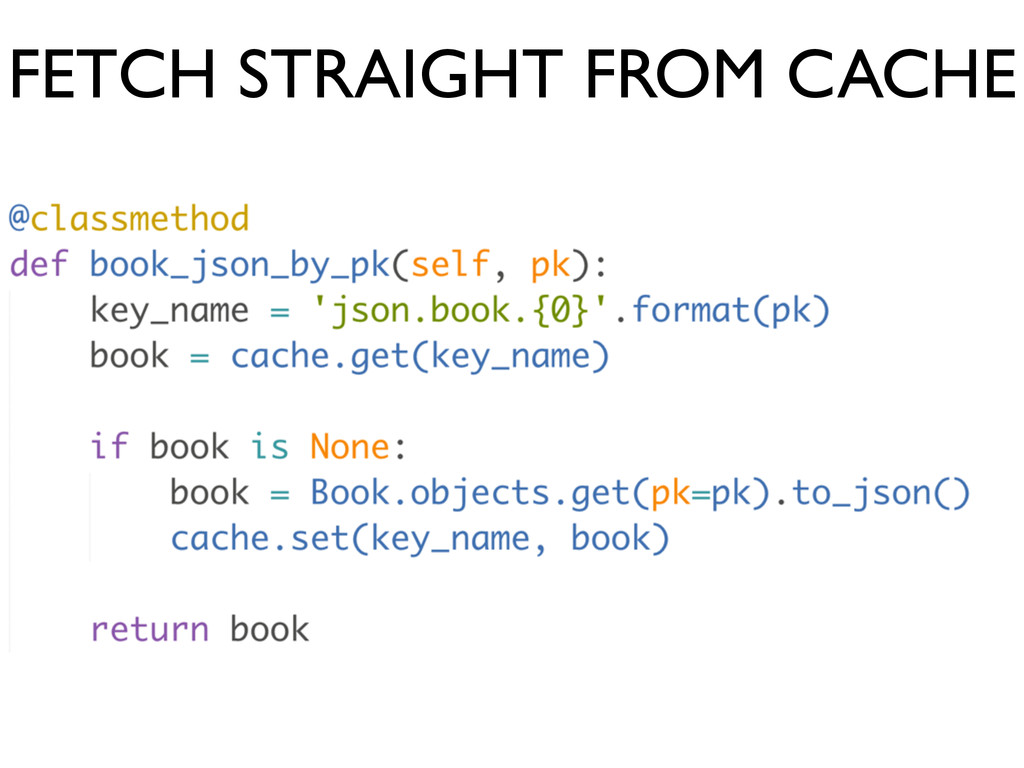 FETCH STRAIGHT FROM CACHE