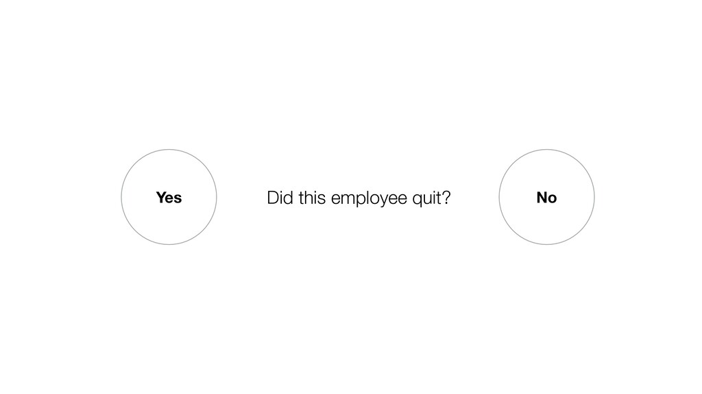 Yes No Did this employee quit?