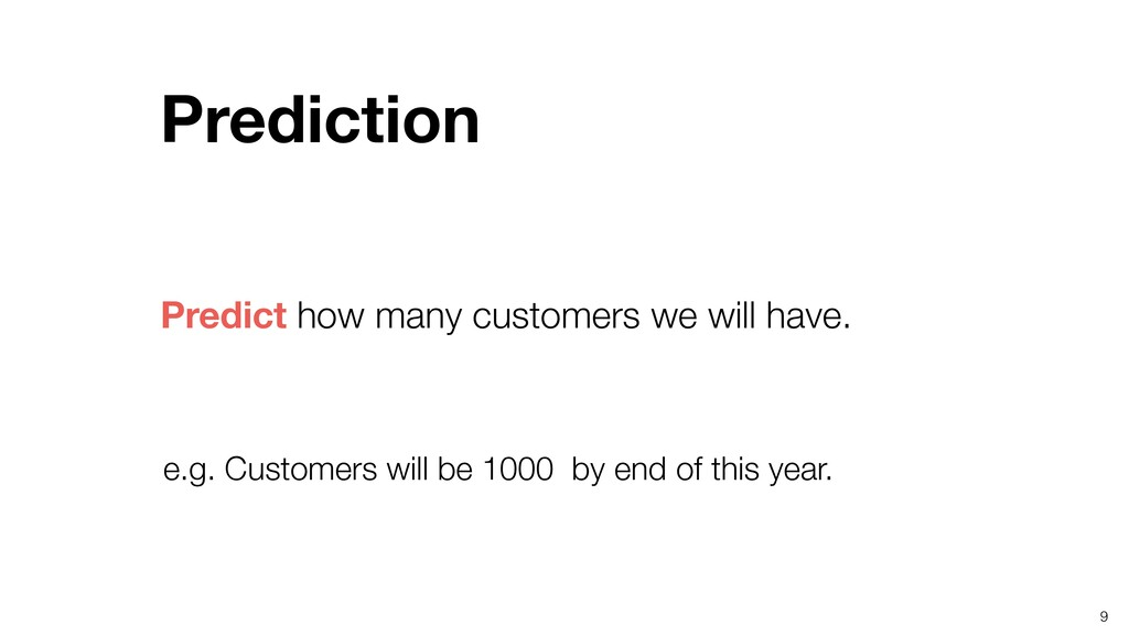 9 Predict how many customers we will have. Pred...