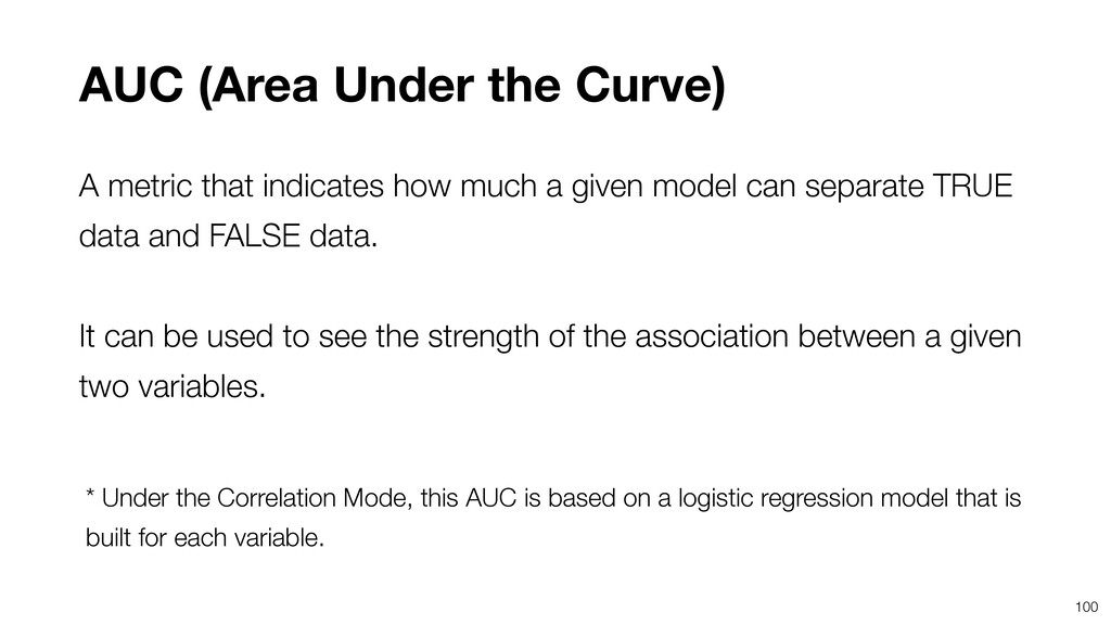 A metric that indicates how much a given model ...