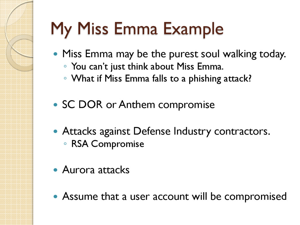 My Miss Emma Example  Miss Emma may be the pur...