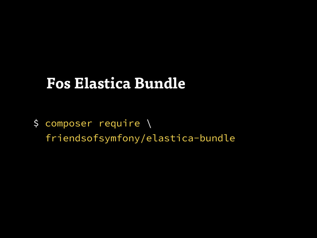 $ composer require 