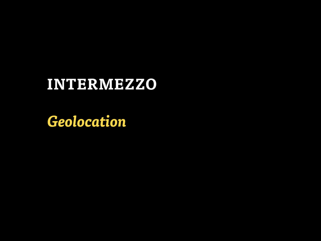 Geolocation INTERMEZZO