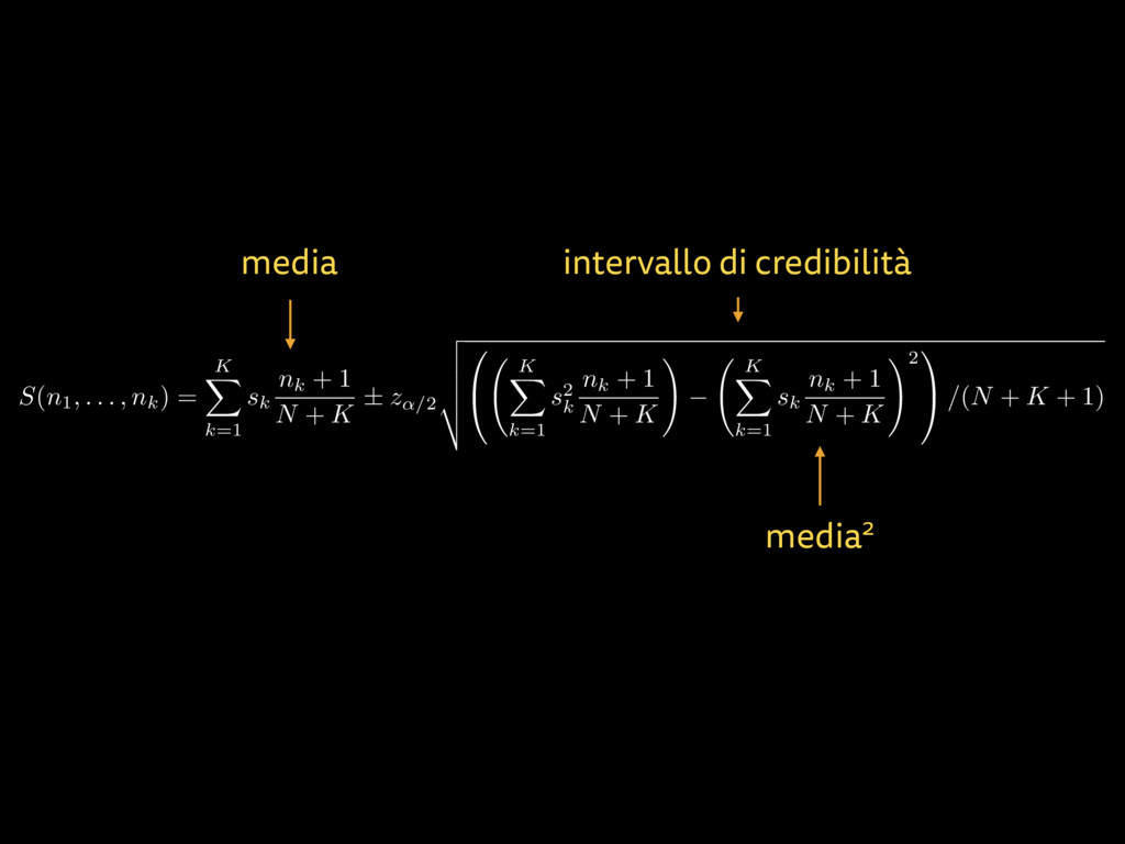 media intervallo di credibilità S(n1, . . . , n...