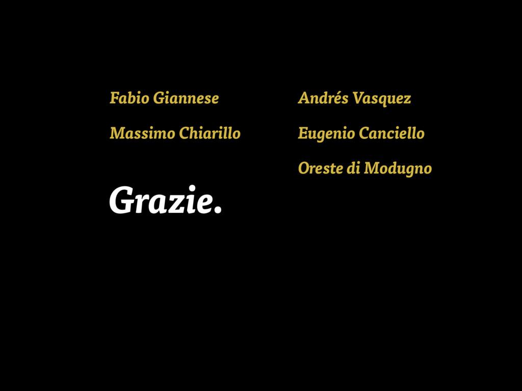 Fabio Giannese Andrés Vasquez Massimo Chiarillo...
