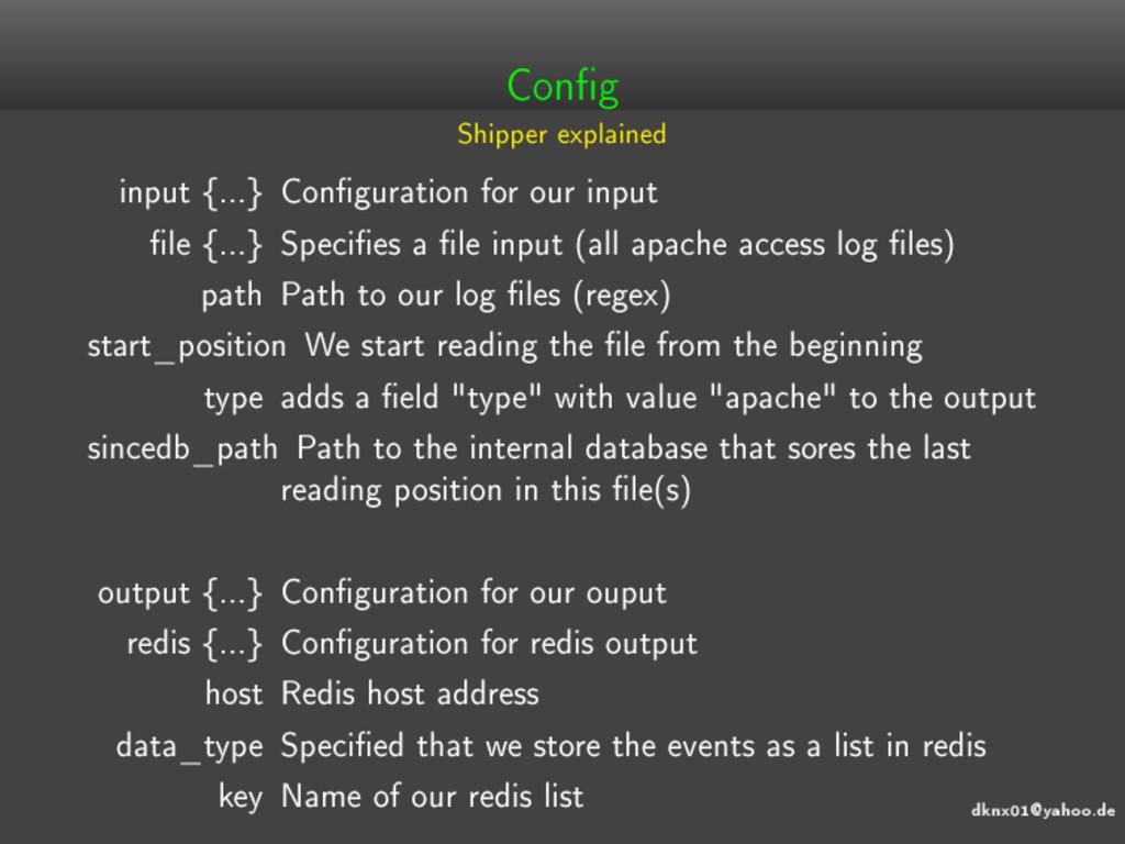 dknx01@yahoo.de Cong Shipper explained input {...