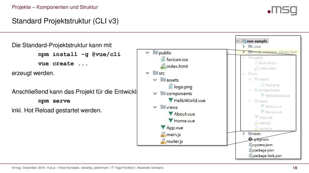 Projekte – Komponenten und Struktur Standard Pr...