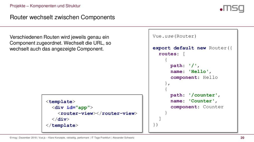 Projekte – Komponenten und Struktur Router wech...
