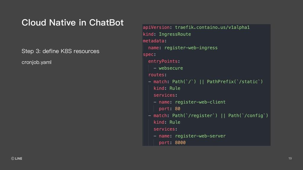 19 Step 3: define K8S resources Cloud Native in...