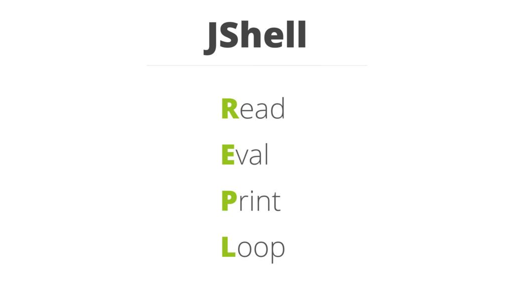 JShell Read Eval Print Loop