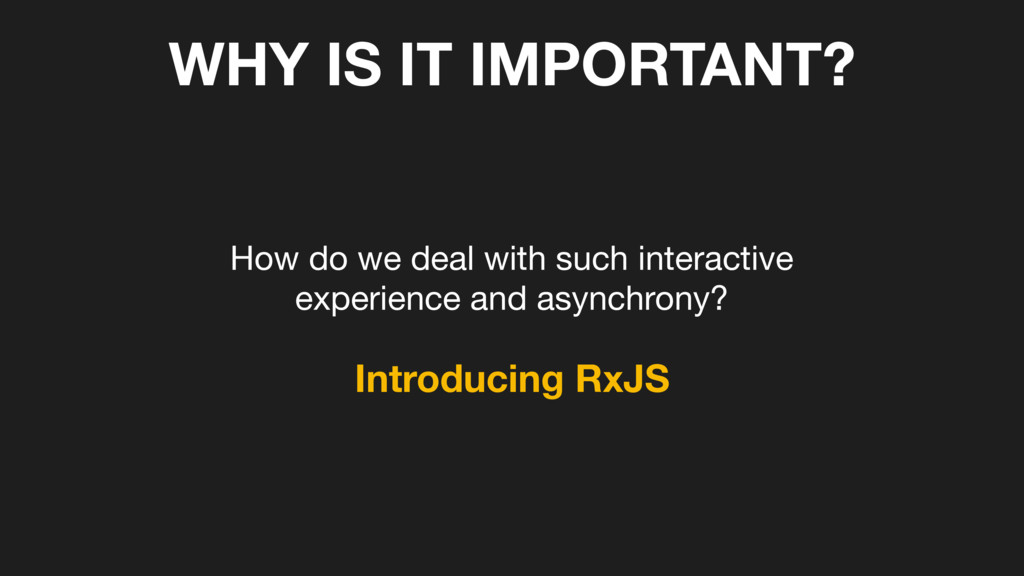 WHY IS IT IMPORTANT? How do we deal with such i...