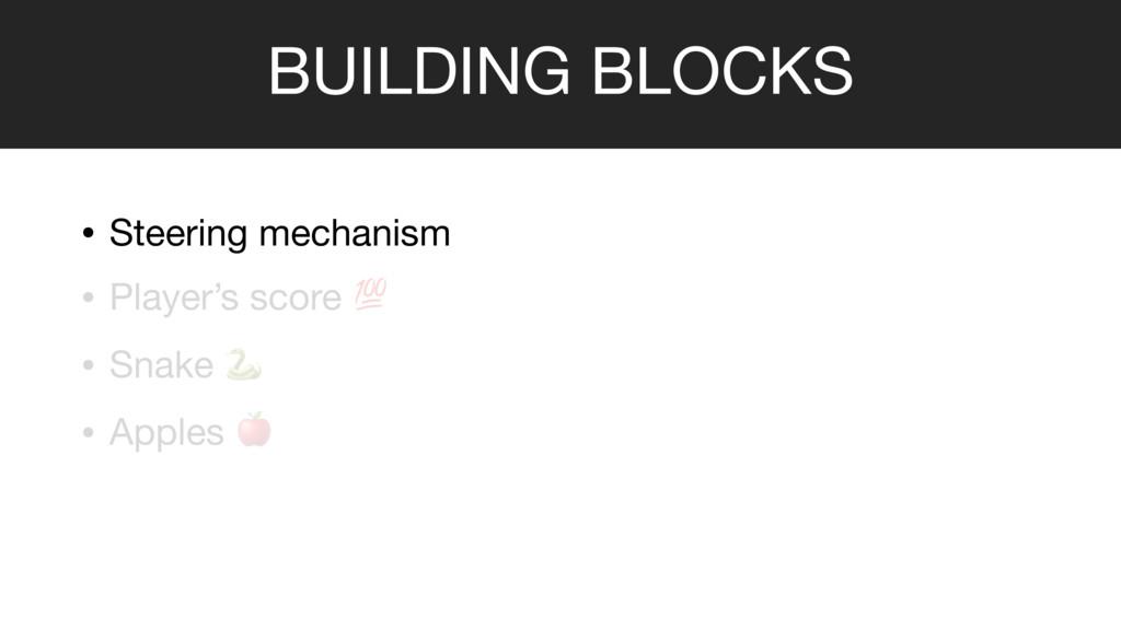 BUILDING BLOCKS • Steering mechanism  • Player'...