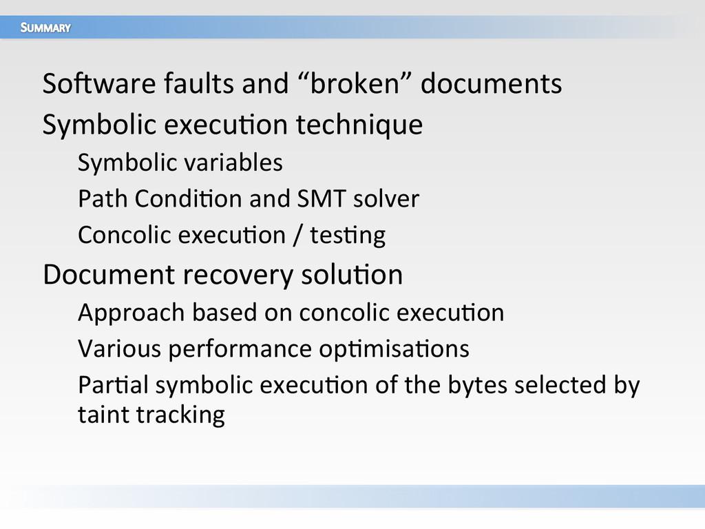 "SoUware faults and ""broken"" documen..."