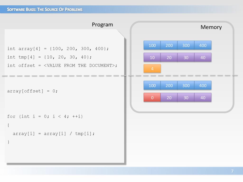 7  int array[4] = {100, 200, 300, 400};...