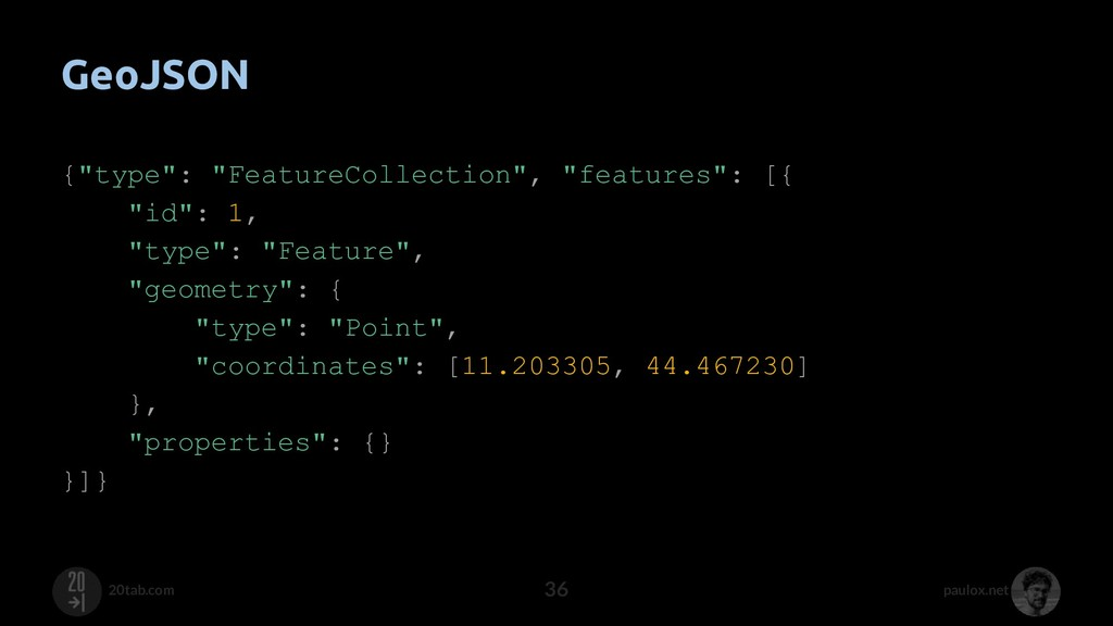"paulox.net 20tab.com GeoJSON {""type"": ""FeatureC..."