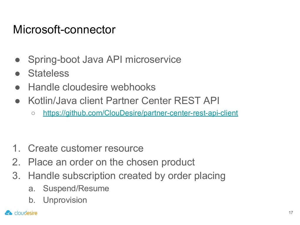 Microsoft-connector ● Spring-boot Java API micr...