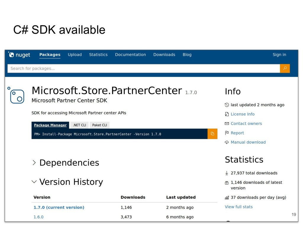 C# SDK available 19
