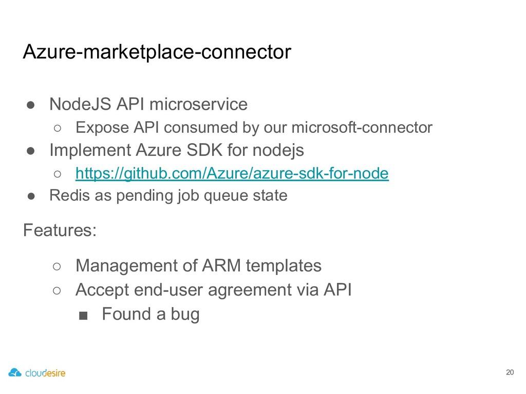 Azure-marketplace-connector ● NodeJS API micros...
