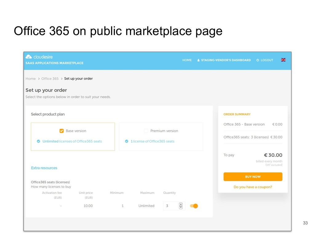Office 365 on public marketplace page 33