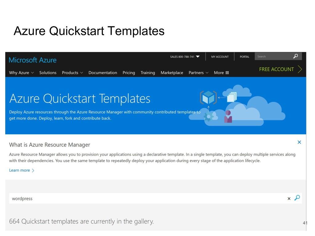 Azure Quickstart Templates 41
