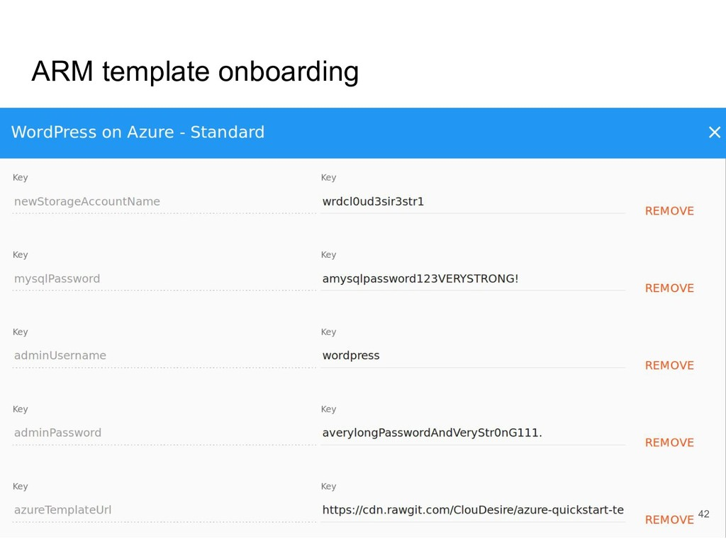 ARM template onboarding 42