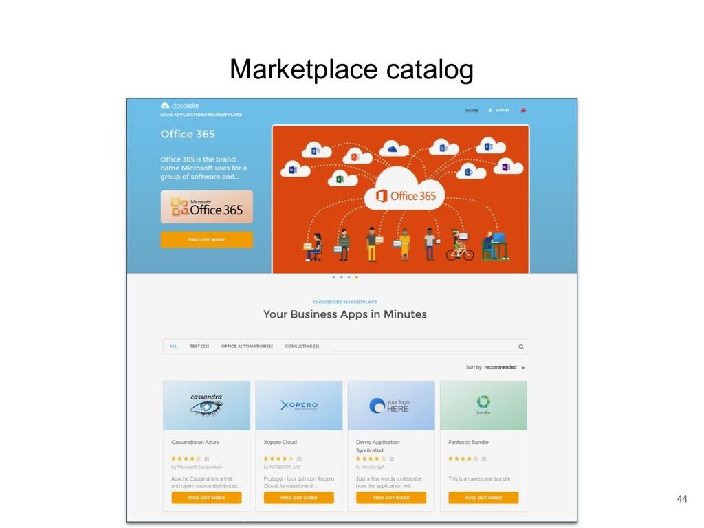 Marketplace catalog 44