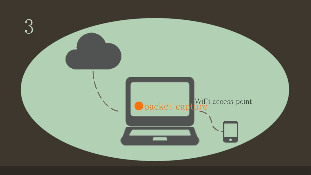 3 WiFi access point ●packet capture