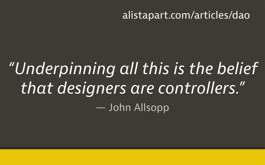 "— John Allsopp ""Underpinning all this is the be..."