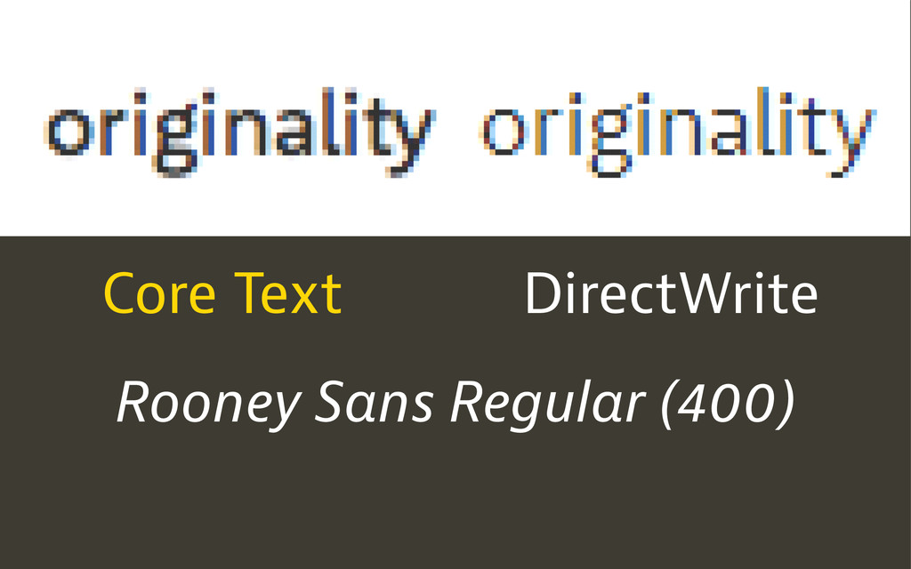 Core Text DirectWrite Rooney Sans Regular (400)