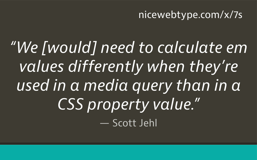 "— Scott Jehl ""We [would] need to calculate em v..."