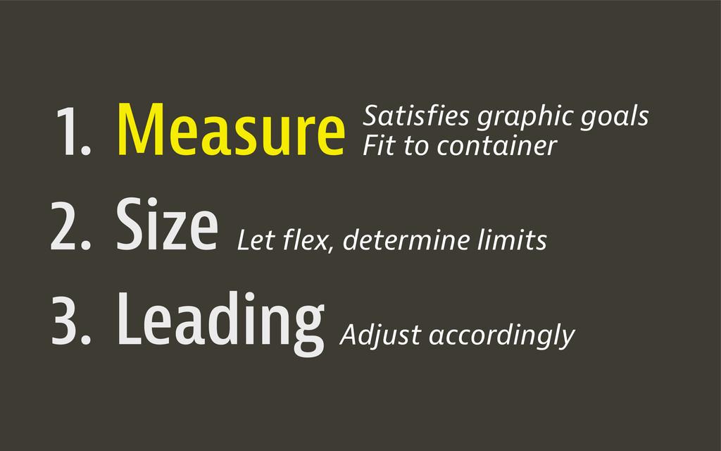 1. 2. 3. Measure Size Leading Satisfies graphic...